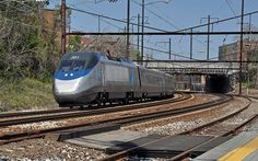 Amtrak Acela approaching West Baltimore Station