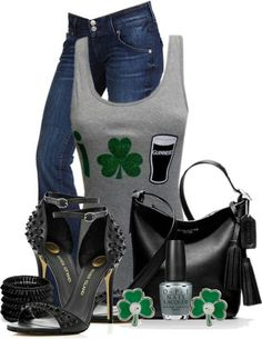 St Patricks day outfit miv and match ⋆ Instyle Fashion One St Pattys Day Outfit, St Patrick's Day Outfit, Outfit Of The Day, Outfit Summer, Summer Wear, Spring Outfits, Bar Outfits, Cute Outfits, Ladies Outfits