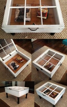 Reclaim an old window Frame & make a coffee table! Upcycle at its best
