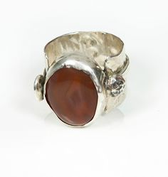 silver and corniola ring by 962
