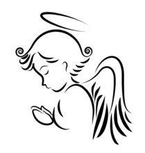 Angel rezando. vector