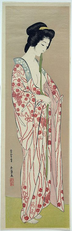 Woman Dressing, by Hashiguchi Goyô, circa 1920