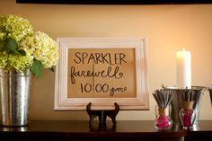 Sparkler Sendoff At Wedding