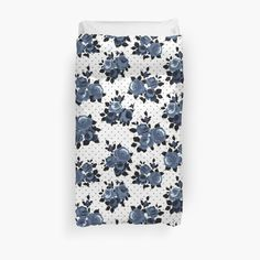 This blue floral pattern is stunning – simple, classy and sophisticated. These products stand out and are unique and original. • Also buy this artwork on home decor, apparel, phone cases, and more.