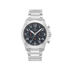Giorgio Milano Men's Stainless Steel Black Dial Chronograph Watch