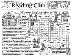 See what's in Santa's Workshop and learn about where American Christmas customs originated with this activity page!