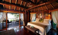 Like the wooden natural theme in the room at Namale the Fiji Islands Resort & Spa
