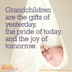 Grandmother quotes Grandchildren are the gifts from yesterday, the pride of today, and the joy of tomorrow Quotes About Grandchildren, Grandmothers Love, Grandma Quotes, Thing 1, Grandma And Grandpa, Grandparents Day, My Children, Grandkids, To My Daughter