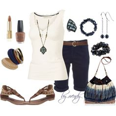 I love all the little details of the top, almost didn't put a necklace with it but I couldn't resist, created by wendyfer on Polyvore