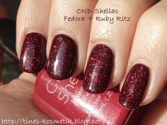 CND Shellac ruby ritz & fedora