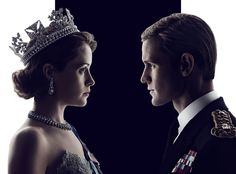 Claire Foy as Elizabeth II, Matt Smith as Prince Phillip in netflix's The Crown, 2016
