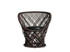 Woven wicker armchair PAVO - Driade