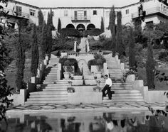 The Villa - Buster's beautiful home still stands, although some of the land that included the swimming pool was sold