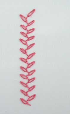 I love this new stitch! It is called the chained feather stitch and it is the latest stitch I have learned from 100 Stitches :  This stitch ...