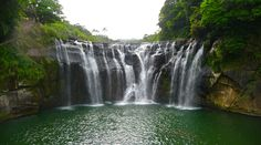 Shifen waterfall http://www.ibeautifulplacestovisit.com/2014/08/14/amazing-taiwan-shifen-waterfall/
