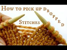 How to pick up dropped stitches in Knitting - All