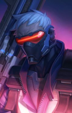 Overwatch Soldier 76 Wall Art 11x17 Print by CapprottiART