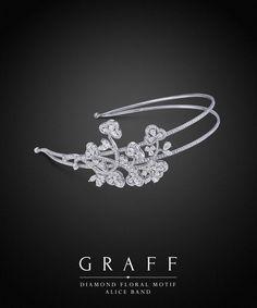 Graff Diamonds: Diamond Floral Motif Alice Band