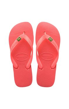 dc8bf3ba7 Coral sandalo Havaianas Brasile · Mens Flip FlopsRoxyBrazil FlagRubber ...
