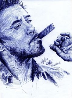 BAllpoint Pen Result by Angelina Benedetti Pencil Art, Pencil Drawings, Art Drawings, Pen Sketch, Sketches, Ballpen Drawing, Stylo Art, Robert Downey Jr., Ballpoint Pen Drawing