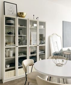 super ideas for ikea storage ideas billy bookcases apartment therapy Ikea Kitchen Cabinets, Kitchen Cabinet Handles, Tv Cabinets, Ikea China Cabinet, Ikea Storage, Storage Spaces, Storage Ideas, Dining Room Storage, Home Staging