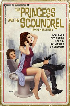 The original Star Wars trilogy as playful pulp novel covers
