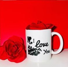 AS SEEN ON BUZZFEED, Welcome to YouAreBeautifulBox LLC we are a 5 ⭐️ Etsy with over 1600+ sales I Love You handmade mug is the perfect way to give her some love in the mail. A great gift for Mom ❤️ ---Description: -White Ceramic Mug -Product Size 3 3/4 h -11 oz mug *Sending as a gift? Don't worry, Bff Gifts, Sister Gifts, Mother Gifts, Gifts For Friends, Great Gifts For Mom, Gifts For Her, Long Distance Gifts, Sparkle Shoes, Get Well Gifts