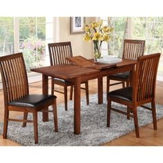 Annaghmore Hartford Acacia Dining Set with Hanover Dark Chairs Dining Room Furniture, Outdoor Furniture Sets, Dining Chairs, Dining Table, Outdoor Decor, Contemporary Dining Sets, Cheap Dining Sets, Online Furniture Stores, Acacia