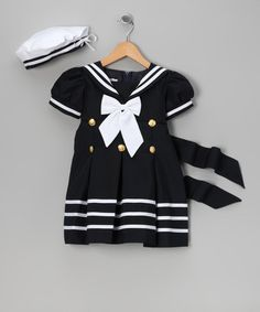 Look what I found on #zulily! Navy Sailor Dress & Beret - Infant, Toddler & Girls by LA Sun #zulilyfinds