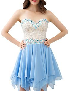 VogueDress Womens Sweetheart Dresses Size 2 US Light Sky Blue -- Be sure to check out this awesome product.