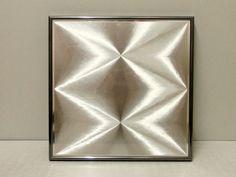 70er+J.+OP+Art++3D+Silbergrafik+im+Nielsen+Rahmen+von+Ober-Schick+auf+DaWanda.com