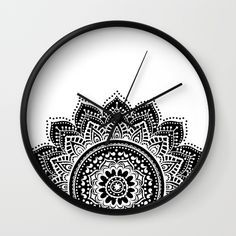 Buy Black and White Mandala Wall Clock by haroulita. Worldwide shipping available at Society6.com. Just one of millions of high quality products available.