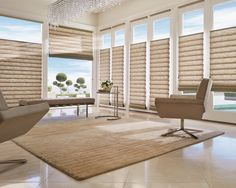 Top-Down & Bottom-Up - Our expert craftsman can fabricate nearly all of our Roman Shade styles with the Top-Down & Bottom-up design feature. Lower the shade from the top to allow light in the room and create a view outward while preserving privacy and light control on the lower section of your window.