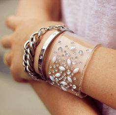 """The grown-up """"arm party"""": One large cuff calls for two smaller pieces."""