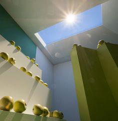 A skylight that looks like the sunny sky