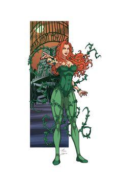Comic Villains, Dc Comics Characters, Comic Character, Character Design, Pamela Isley, Batgirl And Robin, Poison Ivy Dc Comics, Arte Dc Comics, Batman Universe