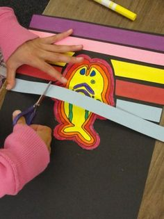 paper cut molas- getting those paper strips perfect! Classroom Art Projects, School Art Projects, Art Classroom, 3rd Grade Art Lesson, Third Grade Art, Grade 3, Ecole Art, Middle School Art, High School