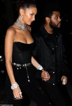 Bella Hadid slips into black corset top at 22nd birthday party with beau The Weeknd Bella Hadid Outfits, Bella Hadid Style, Img Models, Bella Hadid Birthday, Gigi Hadid, Abel And Bella, Black Corset Top, Isabella Hadid, The Weeknd