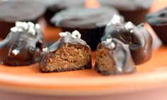 nut butter balls/cups... I've been wondering what to sub for graham cracker crumbs in traditional recipes for these to get the texture.... Ground flax seed is perfect AND nutritious.