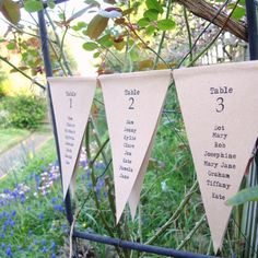 Seating Plan in Bunting style double sided £18.00