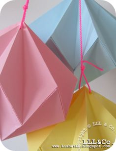 *LLL og Co.*: Fold en diamant af papir #Diamond #Origami
