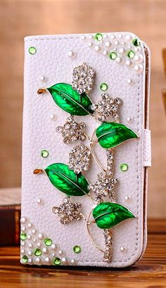 Eco Friendly Iphone 5s Wallet Case Vintage Iphone 5c Wallets Iphone 5 Case, Leather Stud Floral Iphone 4s Flip Wallets Case Cover Free Gifts