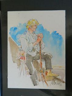 Milazzo, Ivo - illustrazione ad acquarello di Ken Parker - W.B.