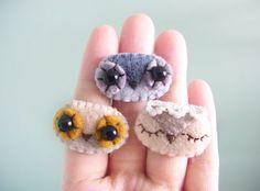 Felt ring - Owl ring - Kawaii ring - Felt accessories -