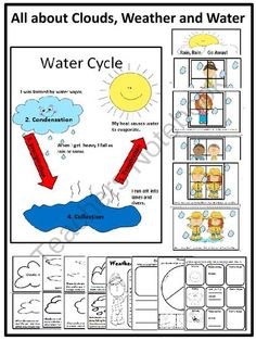 Water Unit - All About Clouds, Weather and Water from FunTeach on TeachersNotebook.com -  (26 pages)  - Everything your young kiddos need to know about water is in this fun filled activity unit.
