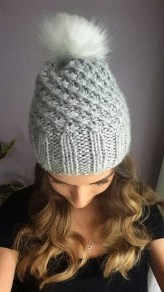Mama made this adorable bean :) #diy #handmade #grey #white #bean #hat #trend