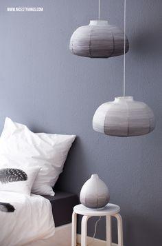 * Nicest Things: DIY: Ombre Papierlampe und neue Bettwäsche von By Nord