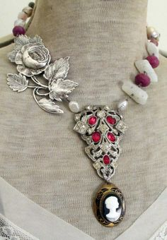 'rose garden' necklace by The French Circus on Etsy