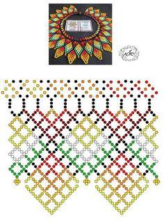 Foto Natali Khovalko Diy Necklace Patterns, Beaded Jewelry Patterns, Seed Bead Jewelry, Bead Jewellery, Peyote Patterns, Beading Patterns, Seed Bead Flowers, Beaded Flowers, Handmade Beads