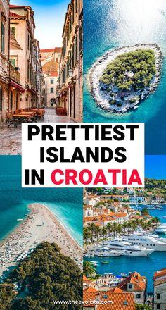 The prettiest Croatia islands for island hopping Croatia Itinerary, Croatia Travel Guide, Europe Travel Guide, Europe Destinations, Holiday Destinations, Italy Travel, Travel Guides, Usa Travel, Split Croatia Beaches
